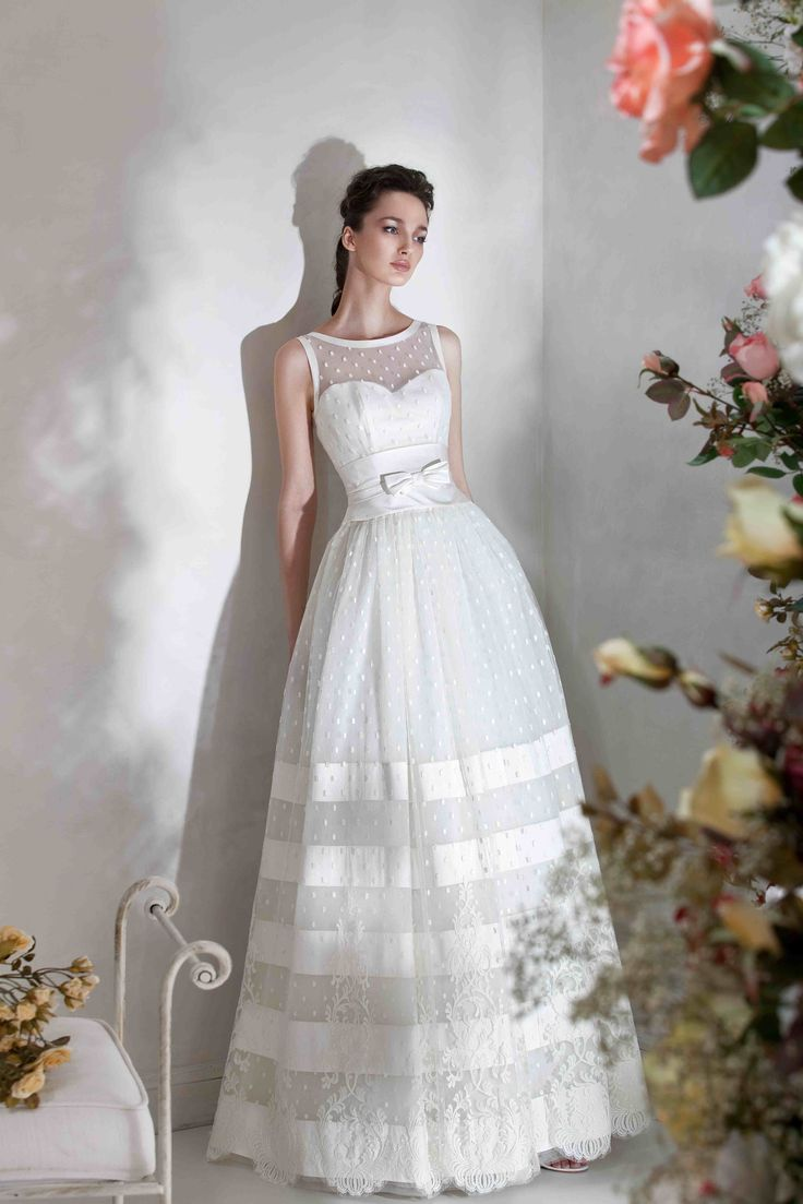 """Romantic sleeveless ball wedding gown with bow at waist, from Papilio """"Flower Cocktail"""" bridal collection - www.papilioboutique.com"""