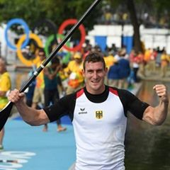 Sebastian Brendel of Germany wins Men's Canoe Single 1000m Final in Rio Olympics