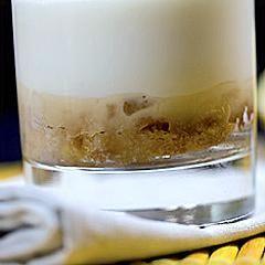 Crème à la vanille sur lit de pomme façon tatin