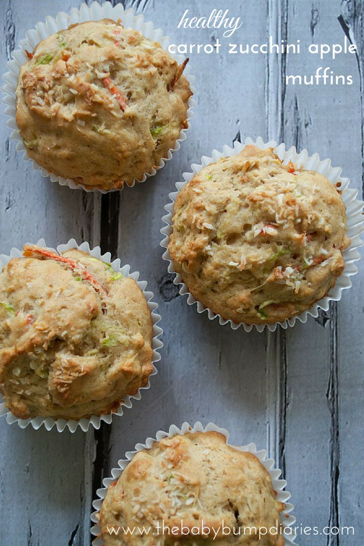 Loving these Carrot Zucchini Apple Muffins!  My  healthy upgrade would be to add maple syrup and oat or almond flour to replace the wheat flour and white sugar. #typeaparent