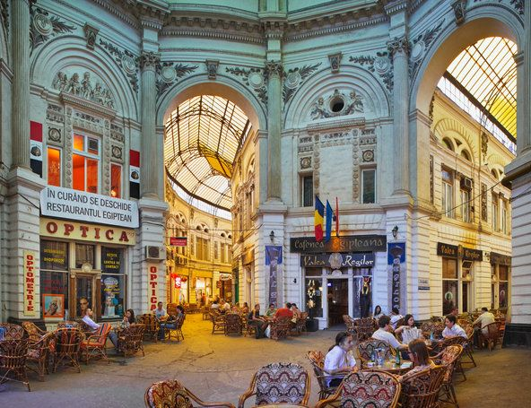 ROMANIA: Lovely European cafe scene in Bucharest, one of the last major European cities that hasn't been pasteurized by gentrification or lost its soul to mass tourism.