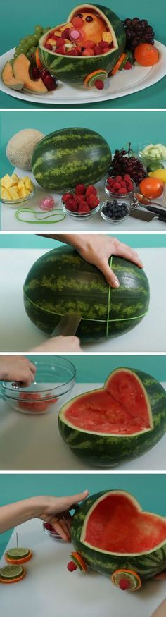 snack foods for gender reveal party watermelon