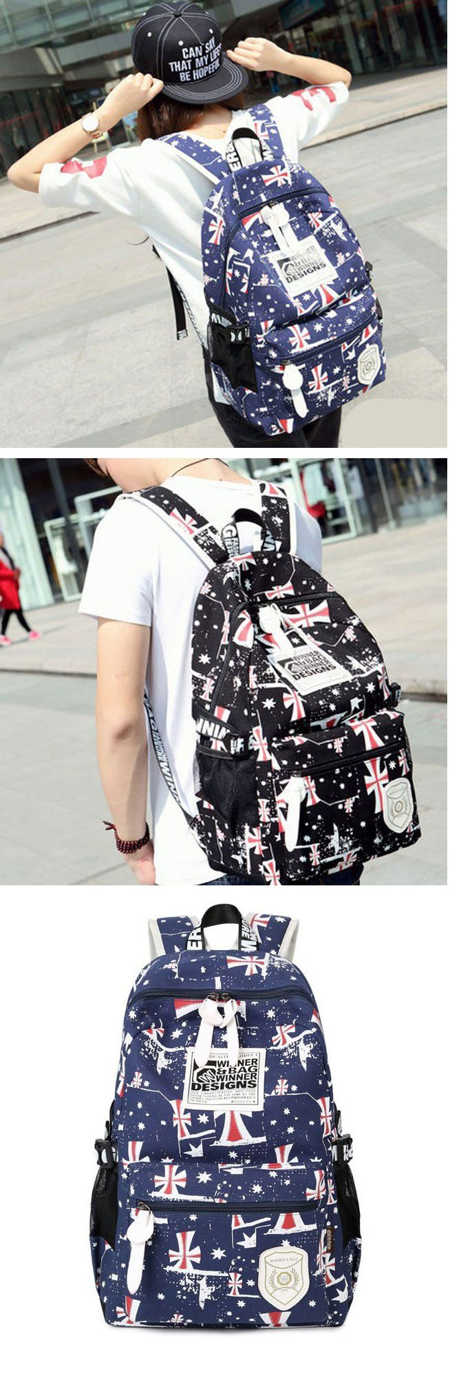 2017 Fashion Casual Printing School Bag Rucksack Travel Sport Backpack for Teenagers – Bagail – Pickpin