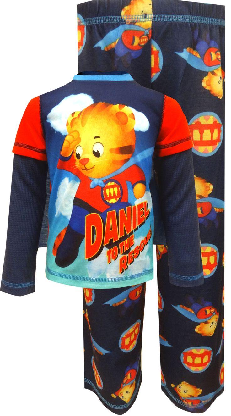WebUndies.com Daniel Tiger's Neighborhood Blue Toddler Pajamas With Cape