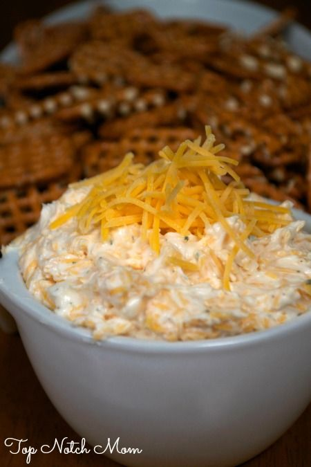 This looks easy and wicked good. Obviously - it has beer. Beer Dip - 2 cream cheese, 1/3 c beer, Ranch Dressing mix, 2 c shredded cheddar.  Serve with pretzels
