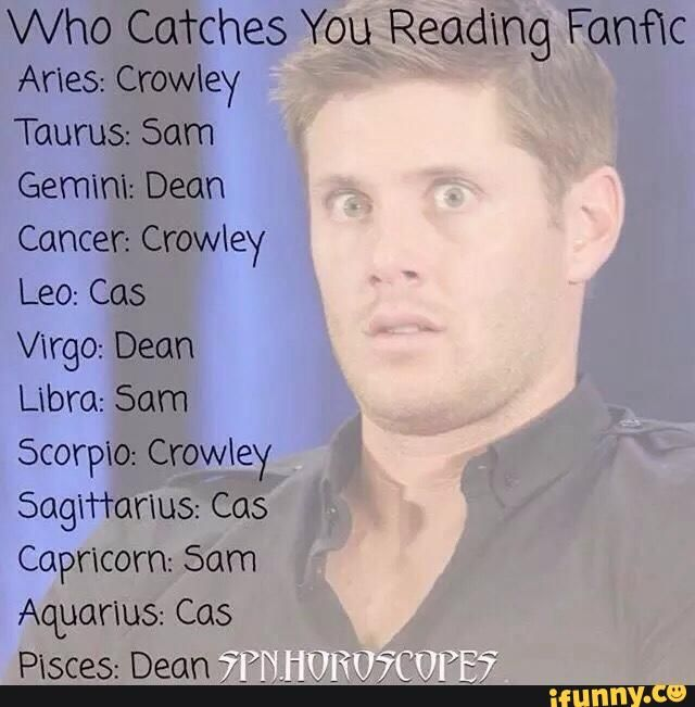 horoscope supernatural - Google Search    Crowley you butt