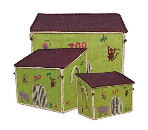 Zoo Toy Storage Baskets Set by RiceDK | Little Yellow Birds