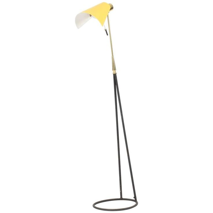Black and Yellow Floor Lamp from Falkenbergs Belysning | From a unique collection of antique and modern floor lamps at https://www.1stdibs.com/furniture/lighting/floor-lamps/