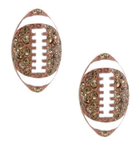 Football Crystal & Enamel Stud Post Earrings My Jewel Thief. $14.86. Great for adults, teens & kids!. Great for gift giving or keeping for yourself!. Stud Post Earrings. Fun & whimsical earrings!. Unique jewelry piece to wear for years to come!. Wonderful Gift!. Save 58%!