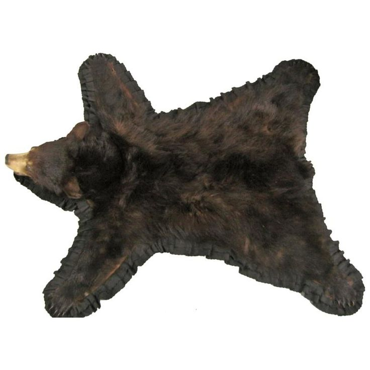 Great 1960s Taxidermy Mounted Backed Brown Bear Skin Rug