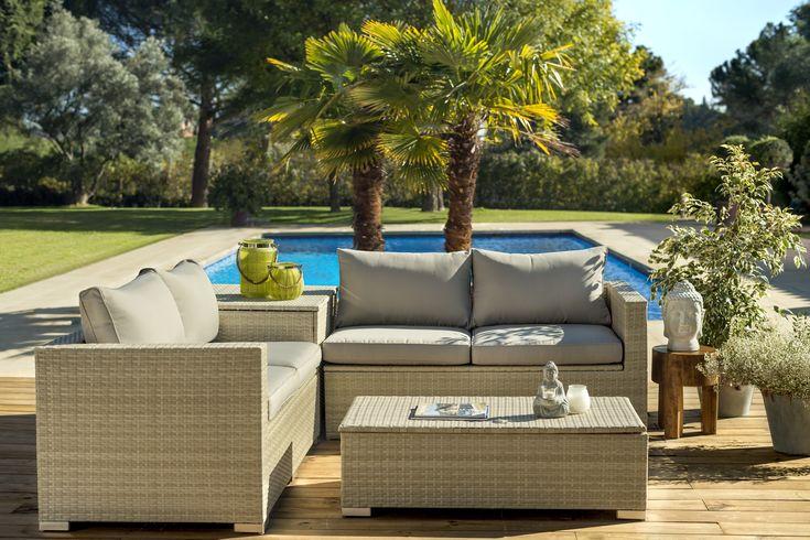 M s de 25 ideas incre bles sobre muebles grises en - Conjunto jardin aki ...