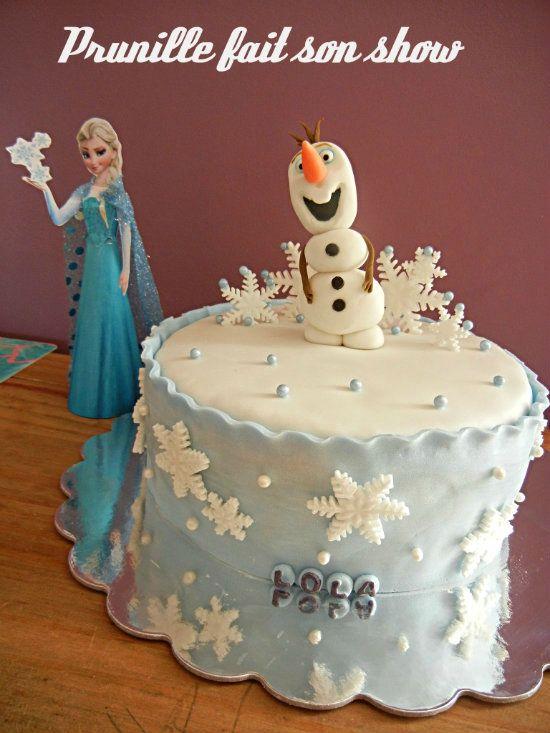 Gâteau Olaf la Reine des Neiges pour l'anniversaire de Méline