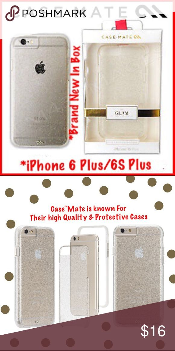 "NIP*Case-Mate Sheer Glam*iPhone 6Plus/6S*Dual laye BNIP-Case-Mate NAKED TOOuch CHAMPAGNE SHEER GLAM iPhone 6S Plus/6S Case.Transparent glitter coated inlay W/smooth finish Ultra slim, dual-layer design W/ Metal Button Accents* case-Mate.com  sells it for $35.00 +""shipping &' tax. Case-Mate cases are 1 of the best cases for protection. 1 YEAR WARRANTY*******⭐️⭐️⭐️⭐️⭐️Company.                                      **ALL ITEMS ARE SHIPPED WITHIN 24 HOURS** Case-Mate Accessories Phone Cases"