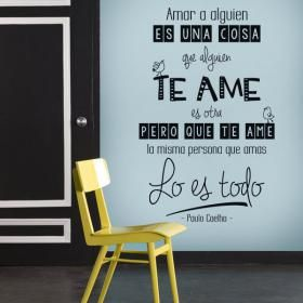 Vinilo Decorativo Amar A Alguien Es Una Cosa #viniloscasa #vinilosdecorativos #pegatinas #adhesivos #decoracioninteriores #pegatinasparedes #decoracionparedes #decorarparedes #home #followme #follow #casas #sticker #stickers #latiendadelaspegatinas #phrases #frases #frasesmotivadoras #frasesmotivacion #quotes #paulocoelho