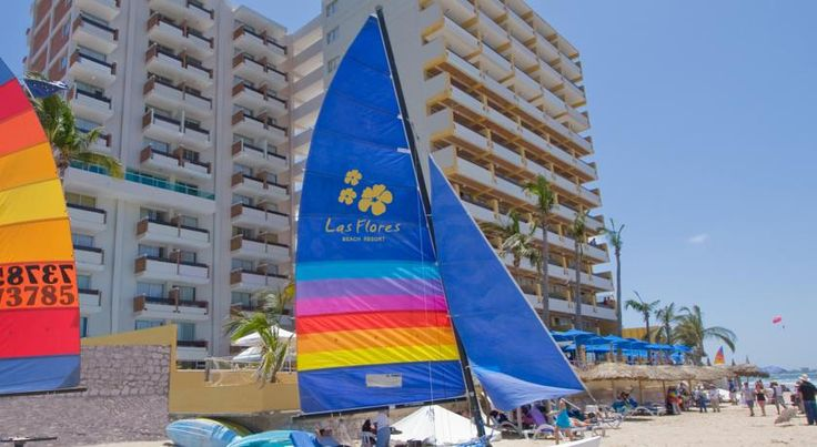 Las Flores Beach Resort Mazatlan Las Flores Beach Resort is located right on the beach, in Mazatlan's Golden Zone. This resort offers outdoor pools with a waterfall and spacious air-conditioned rooms.  The resort has its own spa, with a hot tub, gym and massage service.