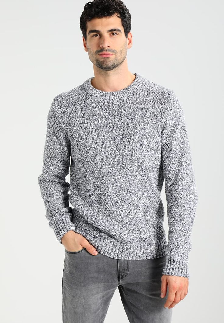 Pier One Jumper - mottled blue for £28.99 (19/12/17) with free delivery at Zalando