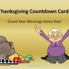 Thanksgiving Countdown Cards. Count your blessings every day of November. Each card has a different theme for giving thanks. You can print these ou...