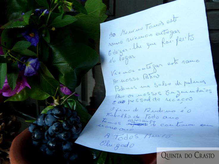 Workers Poem of end of the harvest 2014, at Quinta do Crasto, Douro, Portugal.