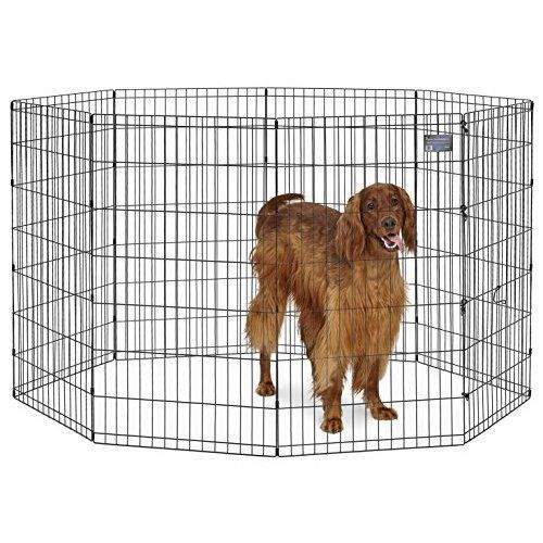 Pet Cage Metal Playpen 42'' Exercise Dog Kennel Tall Connect to Crate Black NEW  #MidWestHomesforPets