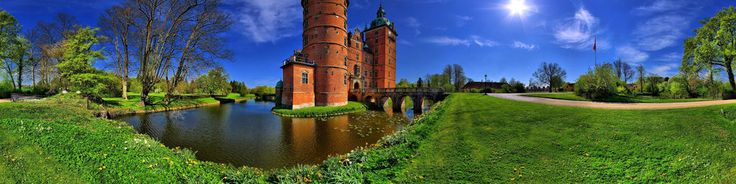 Vallo is an interesting castle, built in 1737.   Here is a beautiful park, in the summer people come here make picnics on the grass in the park.   Vallo is surrounded by a moat, there are also ponds and forest.  Very nice place for walking and relax.