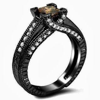 Brown Princess Cut Diamond Engagement RingStore Diamond Engagement RingDiamond Engagement Ring