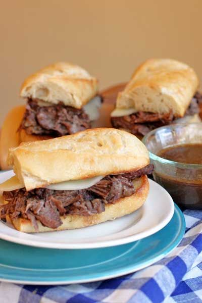 Slow Cooker French Dip Sandwiches.  Au Ju with a secret ingredient.