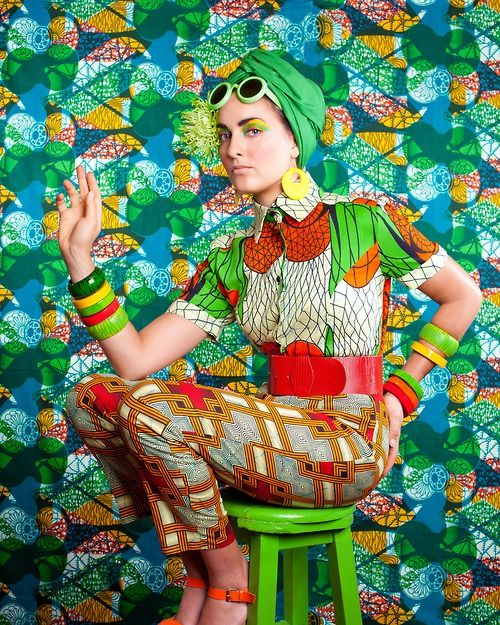 Colored patterns  Photographer/Stylist: Kate O'Brien  Model: Leonie Prendeville  Make-Up: Lizzie Colbert