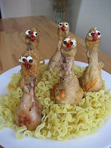 turkeys >>made out chicken legs