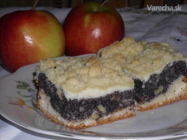 Makovo-tvarohový koláčik s ovocnou nôtou (fotorecept)