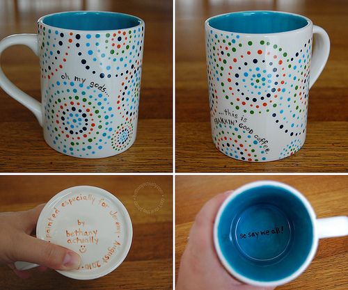 Cool painted mugs images galleries for Ceramic painting patterns