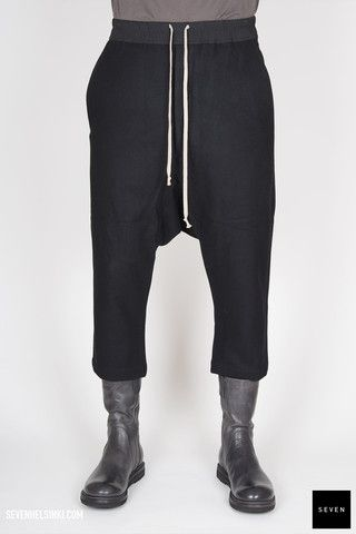 Rick Owens DRAWSTRING CROPPED - black 327 € | Seven Shop