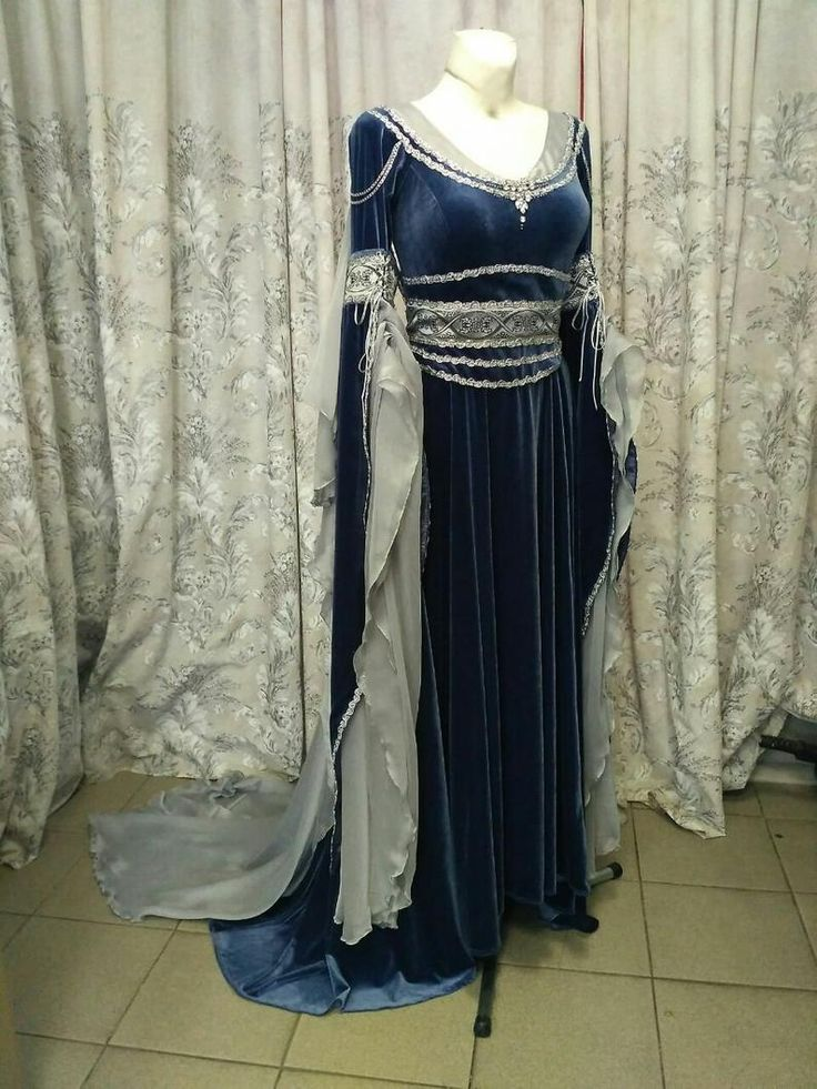silver gray elven dress romantic fantasy gown fantasy wedding