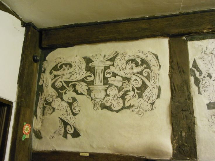 Tudor wall painting at the Gloucester Fold Museum