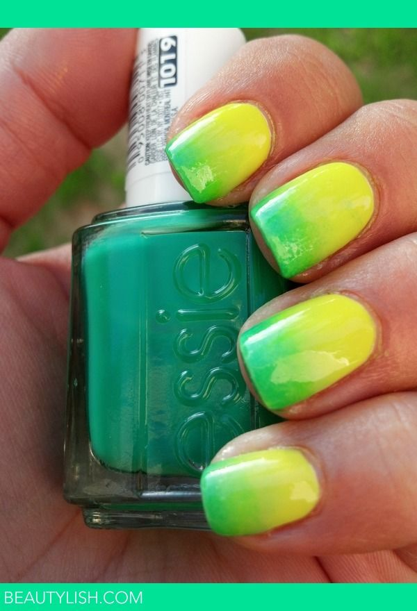 Ombre Nails | Chelsy G.'s Photo | Beautylish I am just loving green hues lately, even for nails.