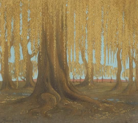 Jacob Hendrik Pierneef (South African, 1886-1957) Willow tree