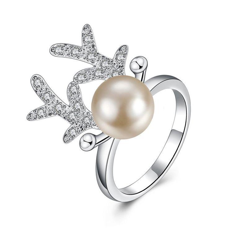 Новый-Стерлингового-Серебра-925-Рога-Оленя-Кольцо-Мода-Элегантный-Имитация-Перл-Кольца-Для-Женщин-С-AAA.jpg (800×800)