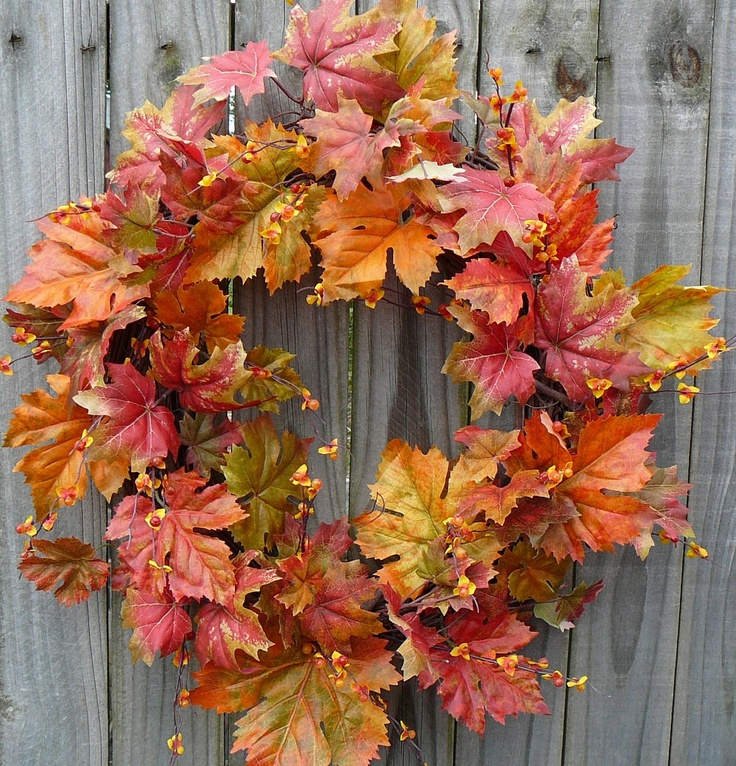 Fall Wreath     Just pretty and simple.