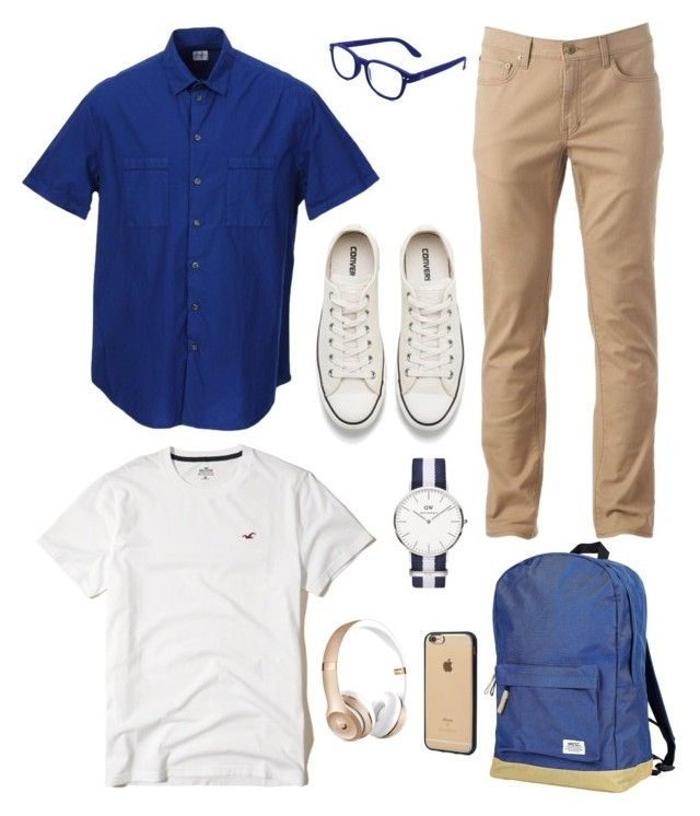 """""""Snobbish Baker"""" by chocofit on Polyvore featuring Armani Collezioni, Hollister Co., Urban Pipeline, WeSC, Converse, Daniel Wellington, See Concept, Beats by Dr. Dre, Incase and men's fashion"""