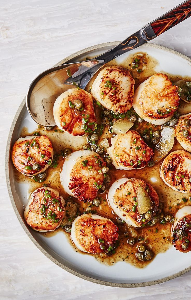Seared Scallops With Brown Butter And Lemon Pan Sauce Recipe