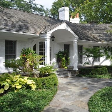 Dual Front Sidewalk Design Ideas, Pictures, Remodel and Decor