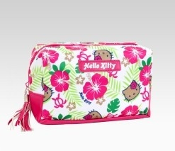 An image of Hello Kitty Cosmetic Pouch: Hibiscus