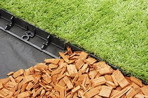 geoBORDER Rasenkante Beeteinfassung Land-Grid Beetumrandung Raseneinfassung Pflastersteine Mähkante (7.8) + 3 Nägel pro Meter