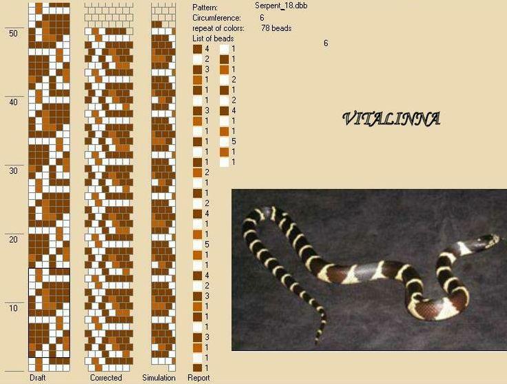bead crochet snake pattern