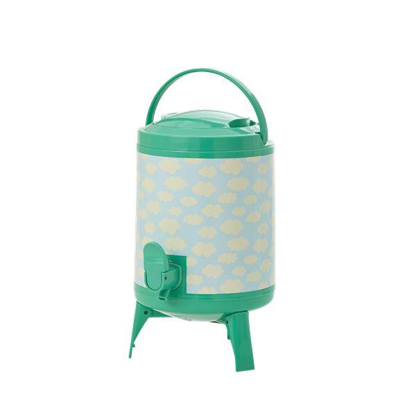 Dispenser / Saftbehållare 4 l grön/blå Moln - Rice