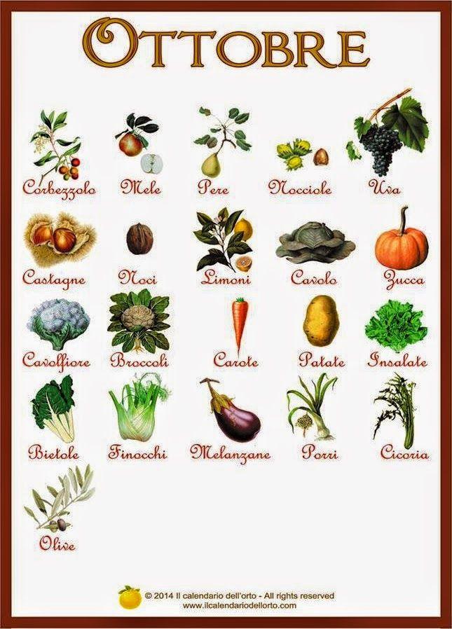 Briciole di Sapori: Ottobre... il calendario della natura