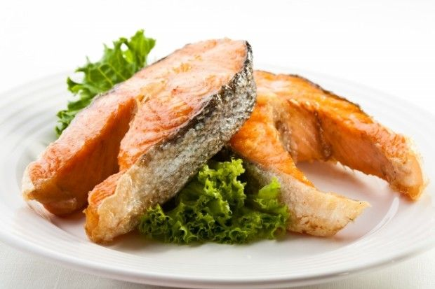 Salmon Steak - Preparation and Ingredients ~ Yummy, salmon and veggies