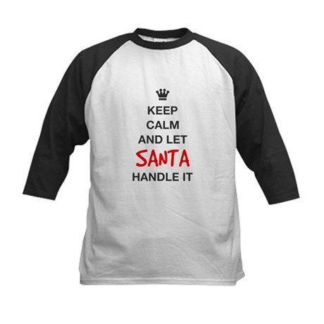 KEEP CALM AND LET SANTA HANDLE IT Baseball Jersey #Christmas #Holidays #cafepress #teespring #printondemand #printart #giftideas #pinoftheday