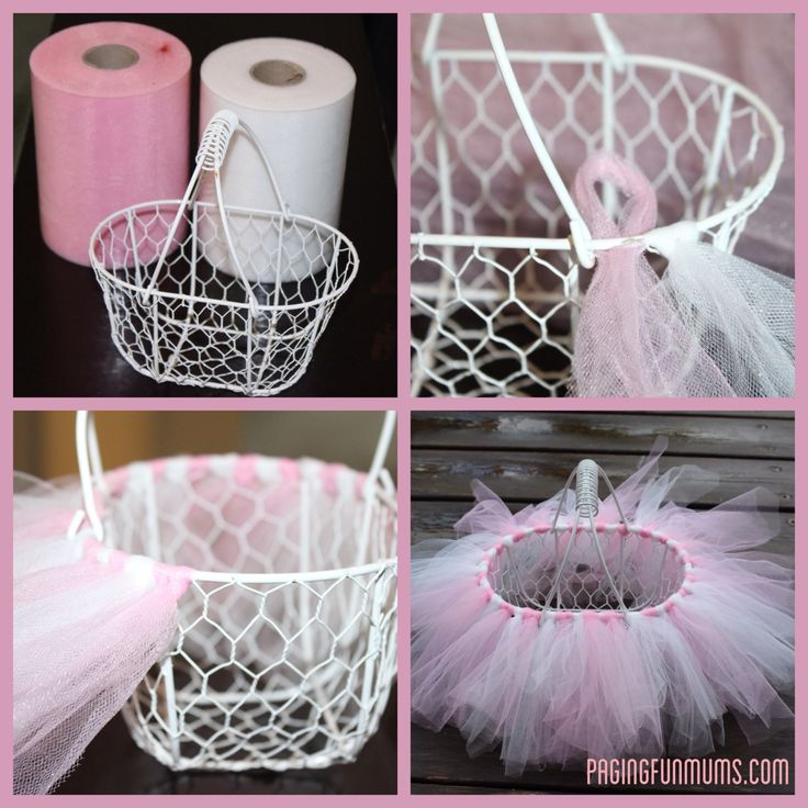 easy diy tutu easter basket baby shower