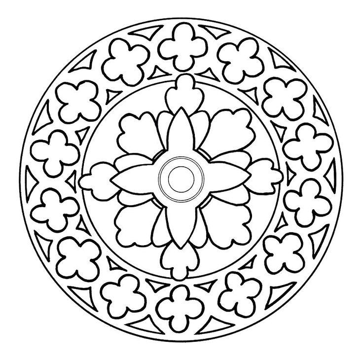 Mandalas De Flores Para Colorear - AZ Dibujos para colorear