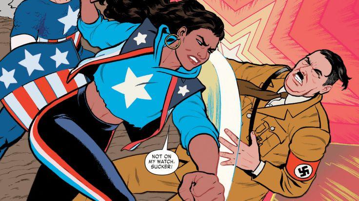 nice America Chavez, Marvel's first queer Latina superhero, is definitely pro-punching Nazis
